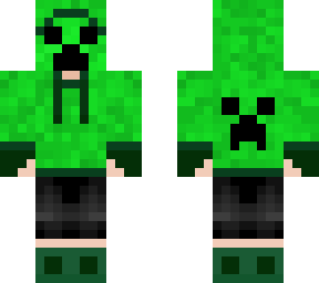 Creeper Human Oc with hood and mask