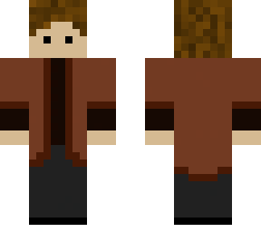 dude with brown jacket