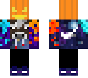 Galaxy Cow Fire and Ice Halloween edition