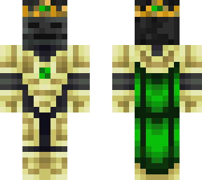 Green wither skeleton king