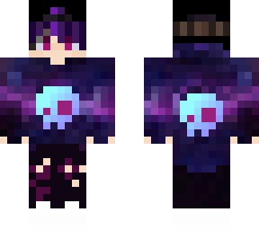 purple hair whit a jacket i color only hair the skin design is not mine