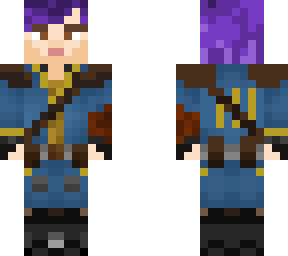 purple haired vault dweller