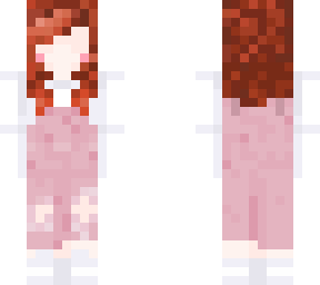 Redhead Pink Overalls