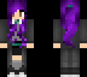 slytherin girl purple hair 2
