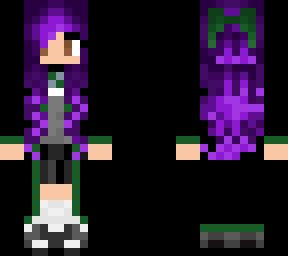 slytherin girl purple hair
