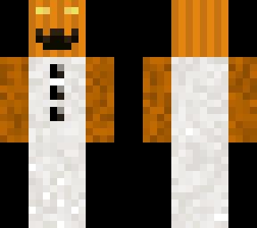 Snowman with pumpkin head