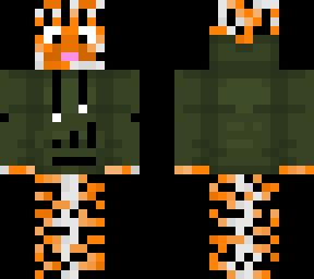 Tiger in dark green hoodie v2